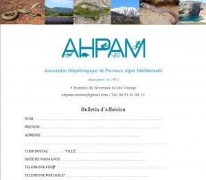 Bulletin adhésion image